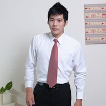 JIA HUEI  長袖柔挺領吸濕排汗防皺襯衫 白色 [台灣製造]