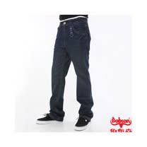 【BOBSON】男款輕量中直筒牛仔褲(53藍)