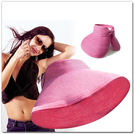 《E.City》波希米亞風遮陽草帽,可調節帽子捲起放包包裏,出遊時更方便攜帶