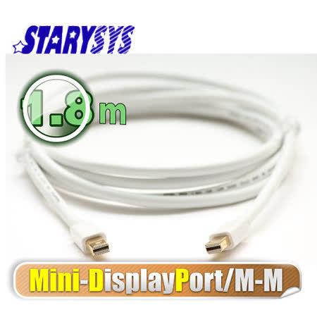 曜兆STARY高級線材Mini DisplayPort-1.8公尺圓線(公-公)