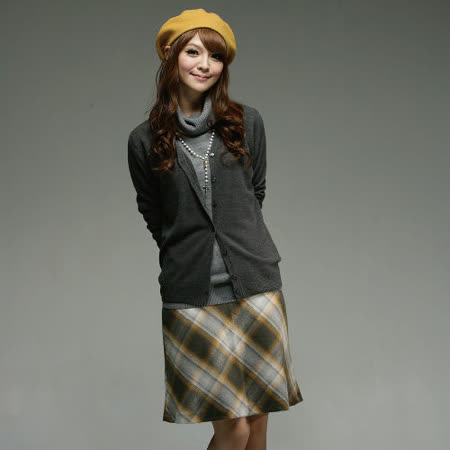 【EverSmile】日雜推薦氣質款♥復古風A字裙