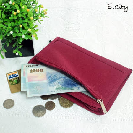 《E.City》新款多功能旅行護照包/收納包/皮夾