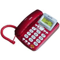 SANYO 三洋 TEL-805 來電顯示有線電話機(紅)