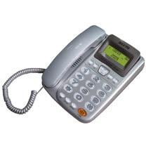 SANYO  三洋 TEL-805 來電顯示有線電話機(銀)