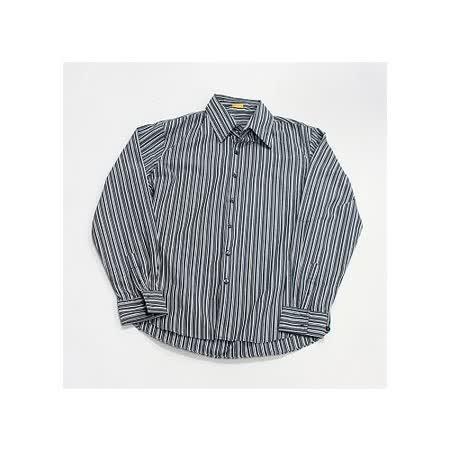 『摩達客』美國進口 【Solis】Premium Woven Collection灰色直紋長袖休閒襯衫
