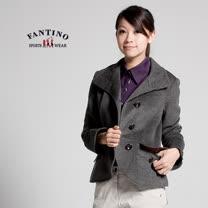 【FANTINO】女裝 合身剪裁喀什米爾羊毛西裝外套(混灰色)085201
