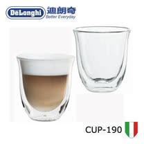 Delonghi迪朗奇CAPPUCCINO雙層玻璃咖啡杯-190C.C. /2入CUP-190