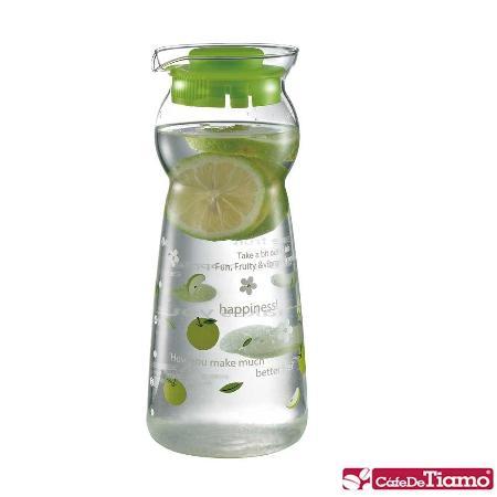 CafeDeTiamo 玻璃水壺【綠色蘋果】950ml (綠) HG2288 G