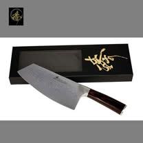 料理刀具 大馬士革鋼系列 中式菜刀-肉桂刀 〔臻〕高級廚具