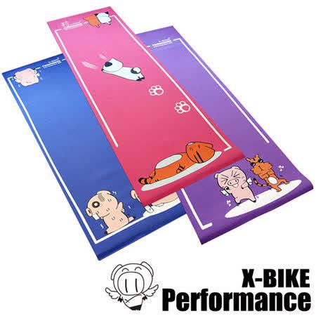 Performance 台灣精品 X-BIKE 卡通造型 環保無毒瑜珈墊(A+B+C三件組)