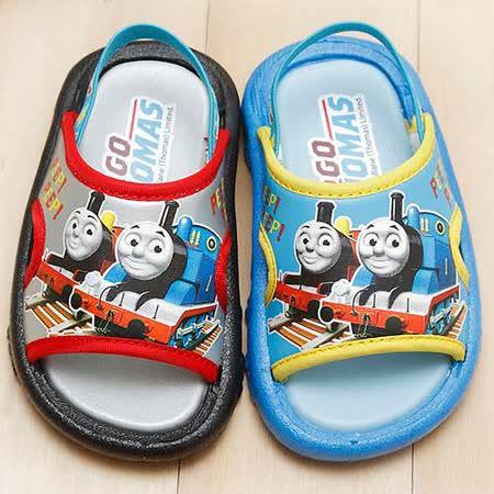 【童鞋城堡】湯瑪士小火車後帶拖鞋{台灣製造}TH1586