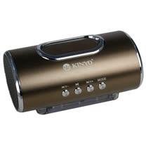 【KINYO】咖啡金輕巧質感插卡喇叭(MPS-378)