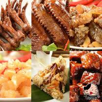 《大嬸婆》蔬果老滷-好運祈福6件組(鴨翅+雞爪+骰子豆干+鯛魚皮+豬腳筋+野薑花粽)