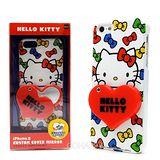 日本限定SANRIO iphone5【KITTY愛心隨身鏡】硬式手機背蓋