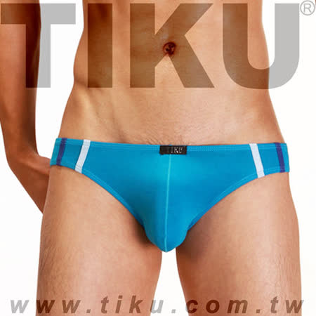 【TIKU 梯酷】~  幻彩呼吸系列 竹纖維低腰三角男內褲 - 藍 (LH1226)