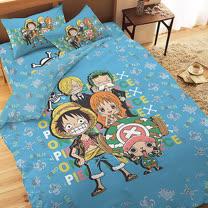 【享夢城堡】航海王 友誼之光系列-單人精梳棉三件式床包兩用被組
