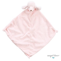 美國 Angel Dear 動物嬰兒安撫巾 (粉紅貴賓狗)