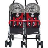 湯尼熊 Tony Bear 典雅豪華併排嬰兒傘車(紅黑)