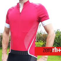ZERORH+ 彈力伸縮貼花應用自行車衣(男) ★ 蘋果綠色、紅色、黑色 ★ECU0193
