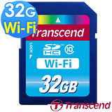 【Transcend 創見】WIFI 32GB SDHC Class10 無線傳輸記憶卡-送創見原廠讀卡機