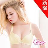 【可蘭霓Clany】低脊心沁涼無痕爆乳集中AB內衣(初暮黃 6697-71)