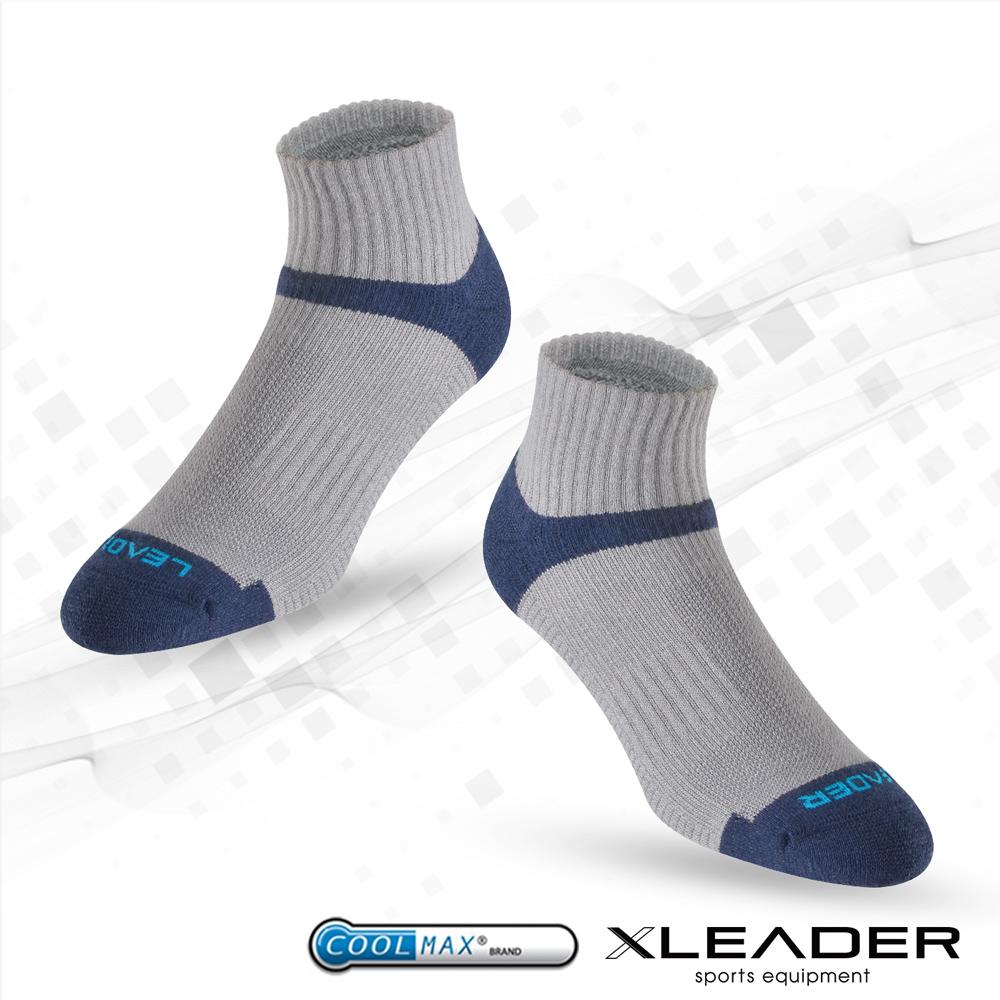 ~LEADER~COOLMAX除臭機能 襪 男款  灰藍