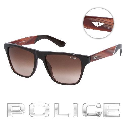 POLICE 都會復古 太陽眼鏡  牛角色  POS1796~0958