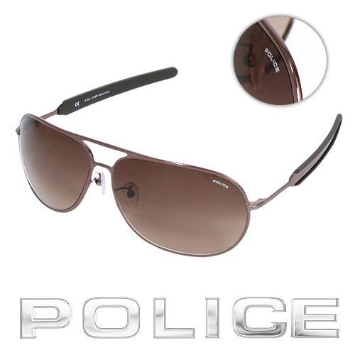 POLICE 都會 飛行員太陽眼鏡  古銅色  POS8736~0K01