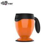 【吸奇不倒杯】桌上型雙層有蓋馬克杯-經典版(橘)