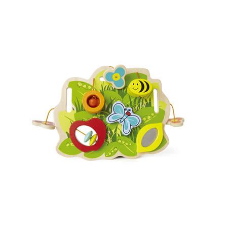 德國Hape愛傑卡-環保木頭系列-派嬰兒多功能動腦掛板
