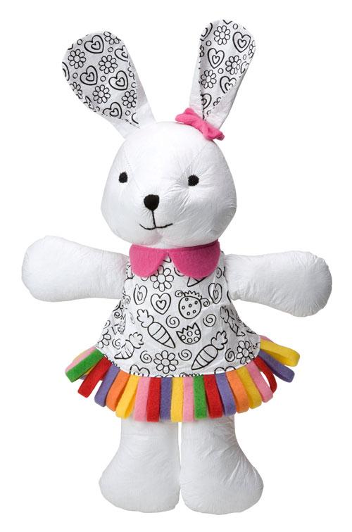 可爱的兔子是布娃娃,也是可重覆图画的立体画布喔!