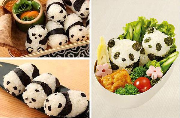 【ps mall】熊猫仔仔饭团模 可爱熊猫宝宝饭团压模 模具组 (j1747)