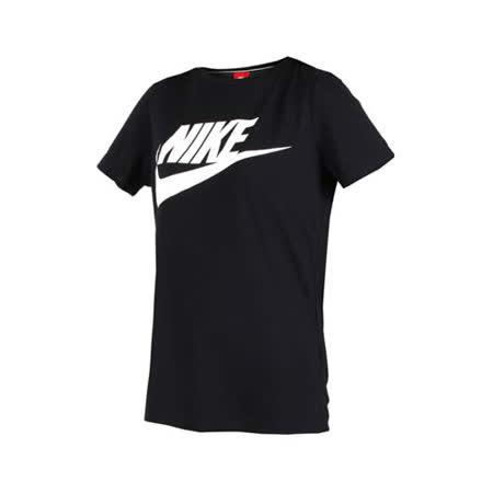 (女) NIKE 短袖T恤-短T 短袖上衣 慢跑 訓練 路跑 黑白