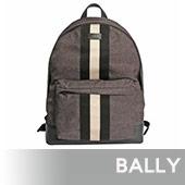 【BALLY】HINGIS 尼龍黑白條紋後背包(黑)