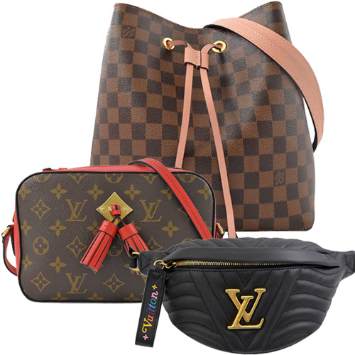 Louis Vuitton LV M53750 NEW WAVE 小牛皮腰包/胸口包.黑_現貨