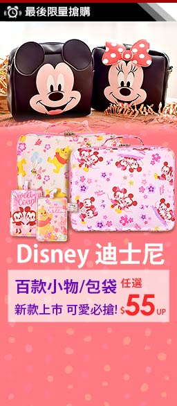DISNEY迪士尼包袋小物特賣$55up