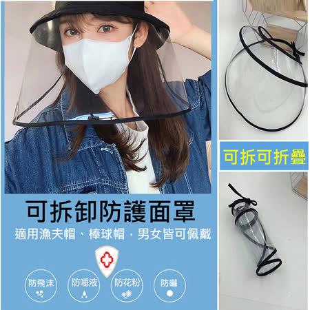 【防疫必備】可拆式防護透明面罩(不含帽子)