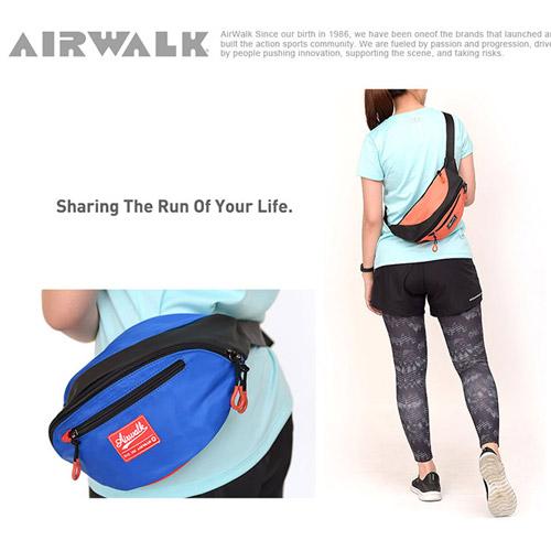 AIRWALK - 休閒實用多夾層收納腰包-藍