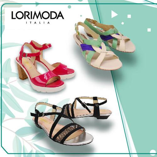 【 LORIMODA】 義大利手工鞋 繽紛花朵楔型低跟涼鞋真皮防滑底