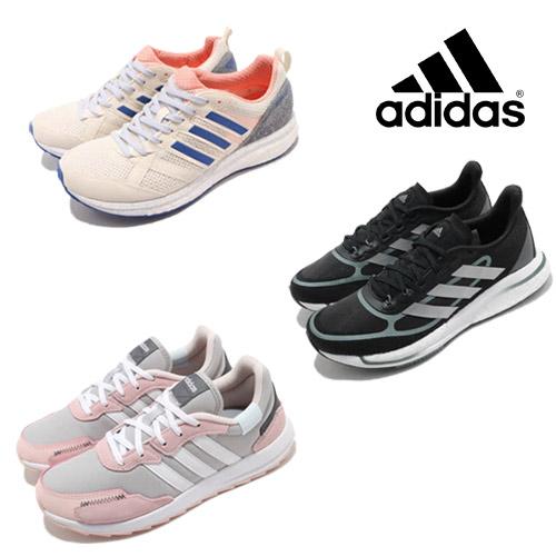 adidas 女 休閒慢跑鞋