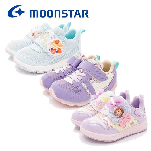 日本Carrot機能童鞋--冰雪奇緣格菱款-(NC12174粉-15-19cm)