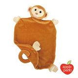 美國【Apple Park】有機棉安撫巾彌月禮盒 - 小猴子