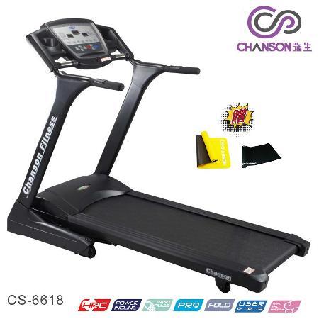 【強生CHANSON】黑炫風 電動跑步機 CS-6618