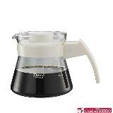 【金時代書香咖啡】Tiamo 玻璃咖啡壺450cc 弧型把手 白色(HG2210W)