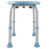 【舞動創意】輕量化鋁質可昇降浴室防滑洗澡椅-圓板凳(天空藍)