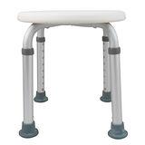 【舞動創意】輕量化鋁質可昇降浴室防滑洗澡椅-圓板凳(時尚白)