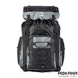 AOKANA奧卡納 輕量防潑水專業登山休閒雙肩後背包 容量可加大(質感灰)68-060
