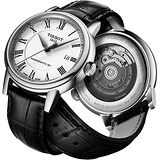 TISSOT Carson Powermatic 80 羅馬機械腕錶-銀/黑 T0854071601300