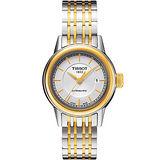TISSOT T-Classic Carson 經典機械女錶-銀/雙色版 T0852072201100