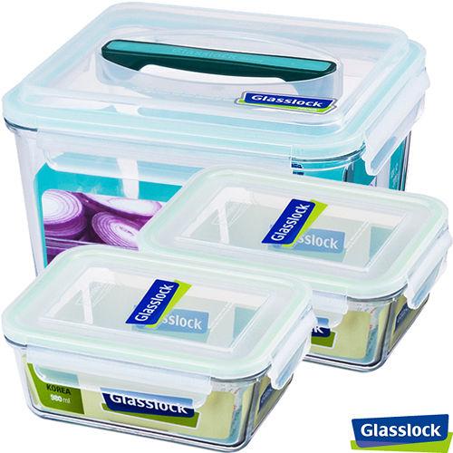 Glasslock 強化玻璃保鮮盒3件組